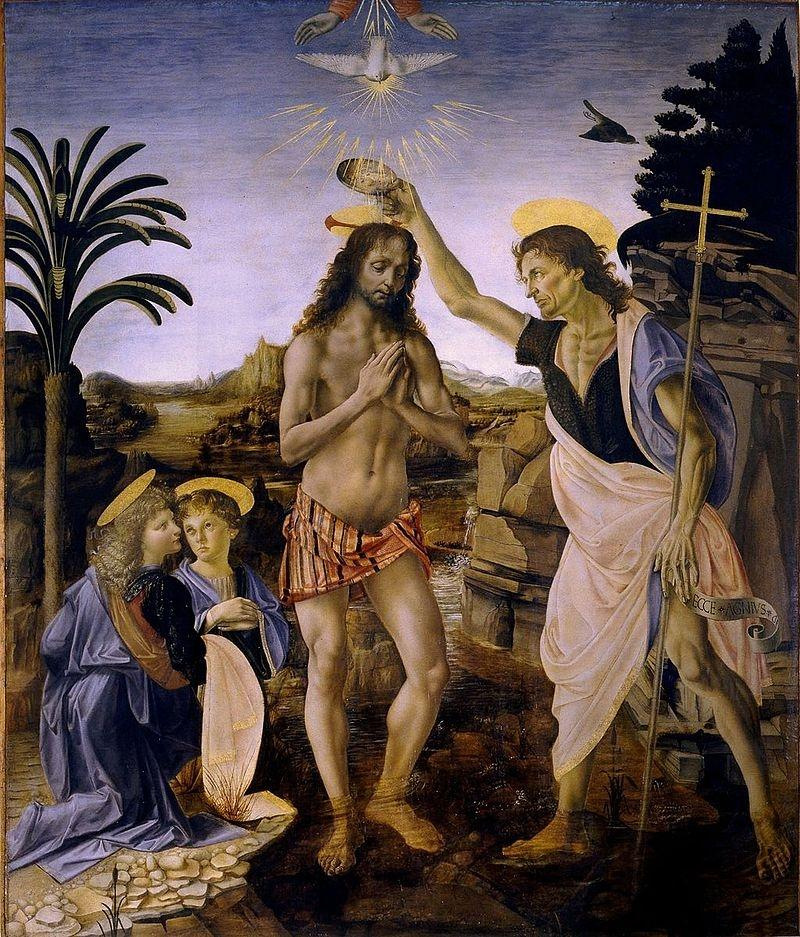 Andrea_del_Verrocchio_Leonardo_da_Vinci_Baptism_of_Christ_Uffizi