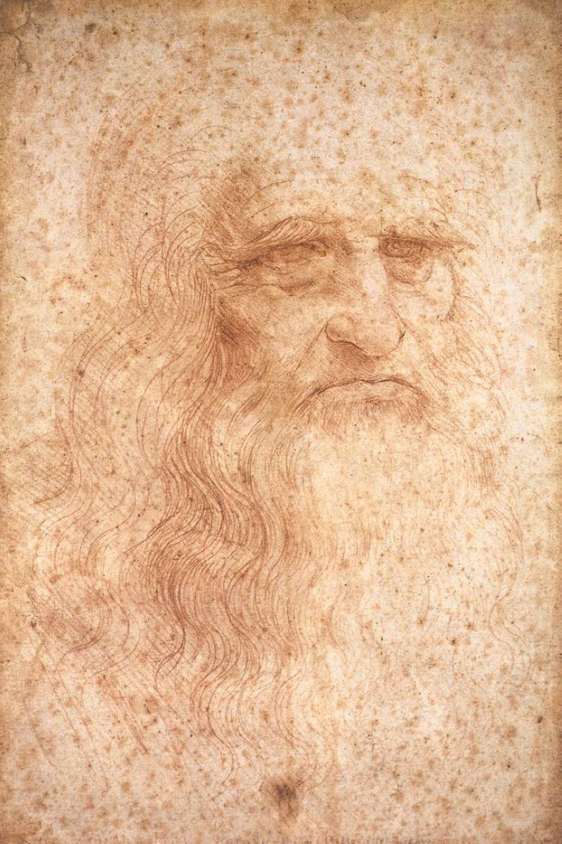 Leonardo da Vinci presumed self portrait