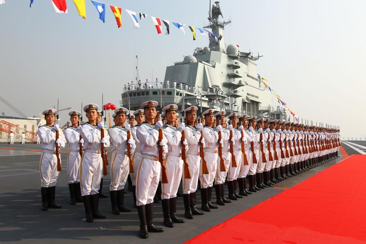 terrapapers.com_Naval honour guards stand as they wait for a review on China aircraft carrier Liaoning in Dalian 1
