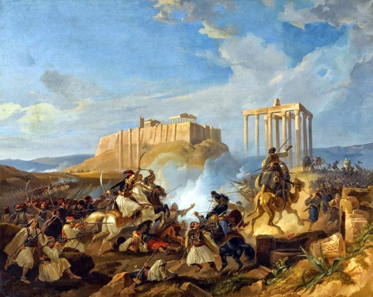 terrapapers.com_ karaiskakis- Battle-Scene-From-The-Greek-War-of-Independence-by-Georg-Perlberg