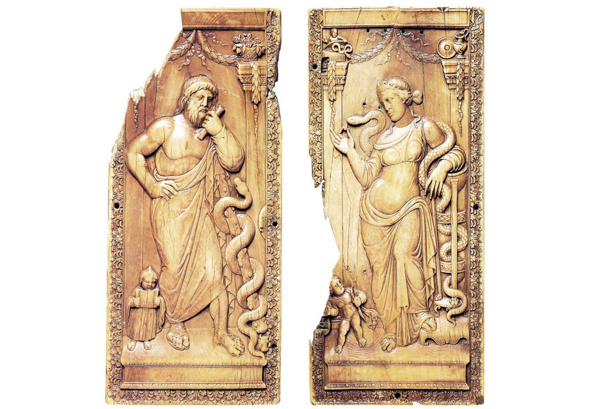 Diptych+of+Asclepius+and+Hygieia,+c.+400+(Liverpool)