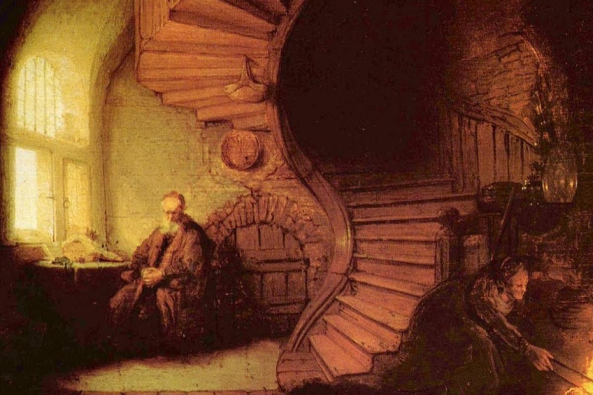 Rembrandt+The+Philosopher+in+Meditation