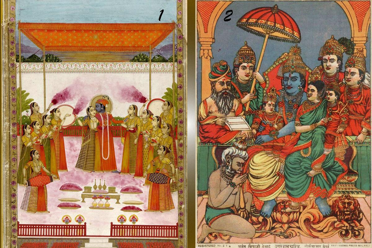 A_Holi_Festival_-_Krishna_Radha_and_Gopis -
