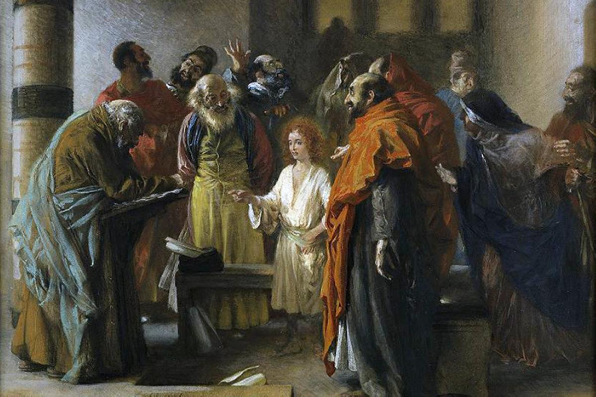 Adolph_Menzel_The_twelve_year_old_Jesus_in_the_temple