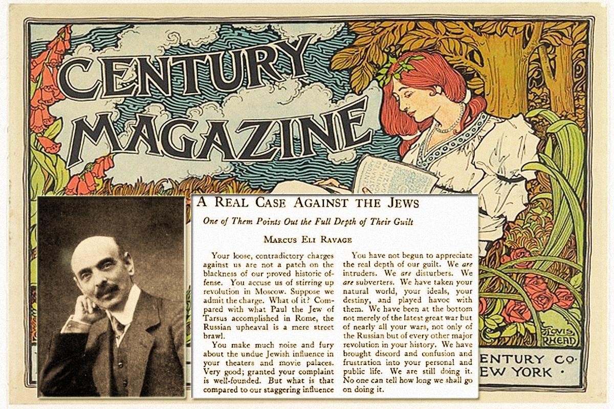 THE CENTURY MAGAZINE A Real Case Against the Jews
