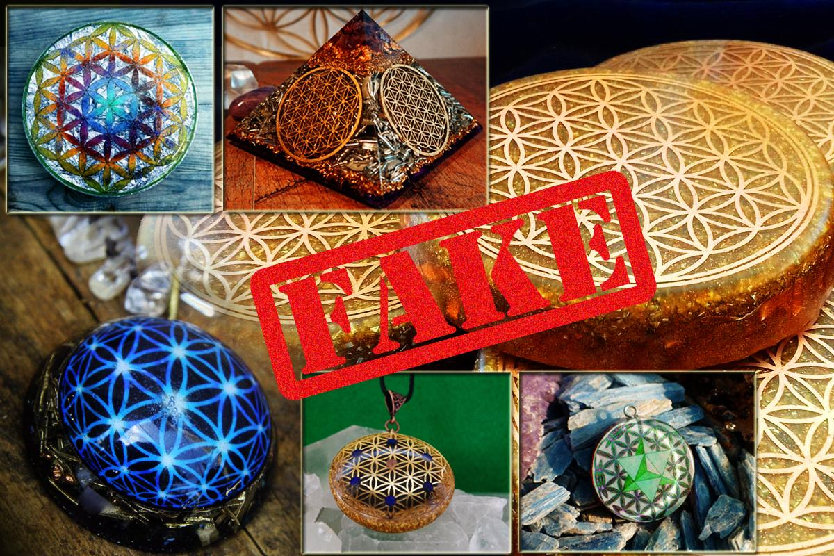 Flower of Life fake orgonite 4