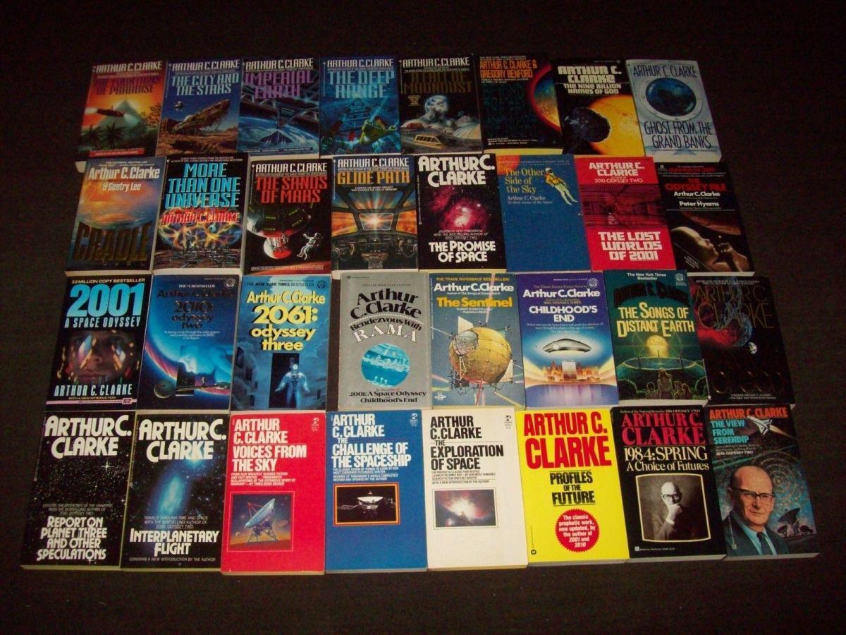 Arthur-C.-Clarke-paperback-lot